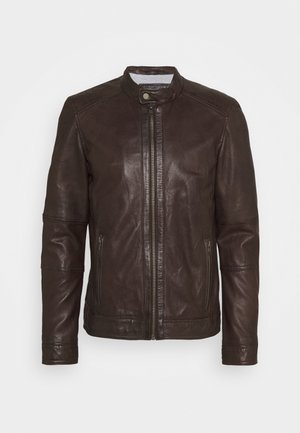 FREDERIC - Leather jacket - braun