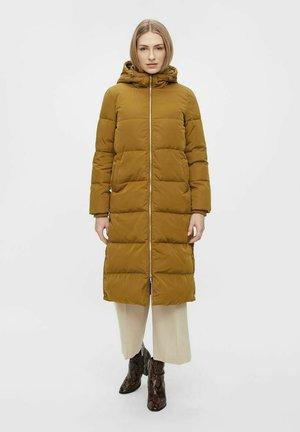 LONG COAT - Down coat - bronze brown