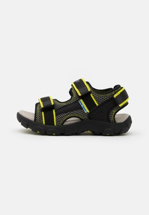 JR STRADA - Trekkingsandale - black/fluo yellow