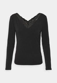 VIBORNEO VNECK DETAIL - Long sleeved top - black