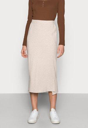NOIAN SKIRT - Pencil skirt - oat melange