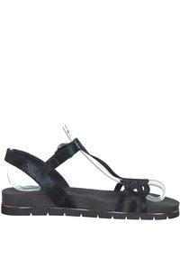 Tamaris - Platform sandals - blk snake metallic - 4