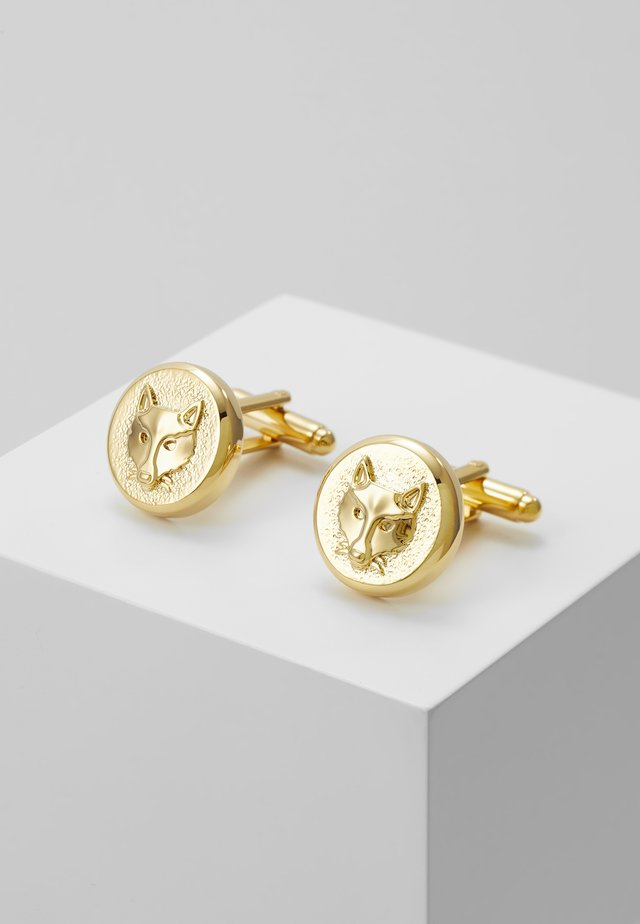 FOX CUFFLINK - Gemelli - shiny gold-coloured