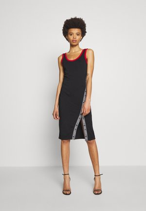 SNAPS DETAIL DRESS - Jersey dress - black