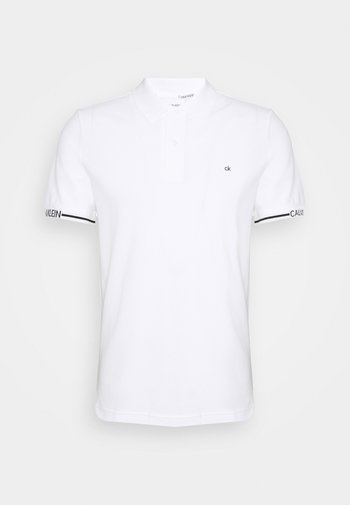 LOGO CUFF SLIM FIT  - Polo shirt - white
