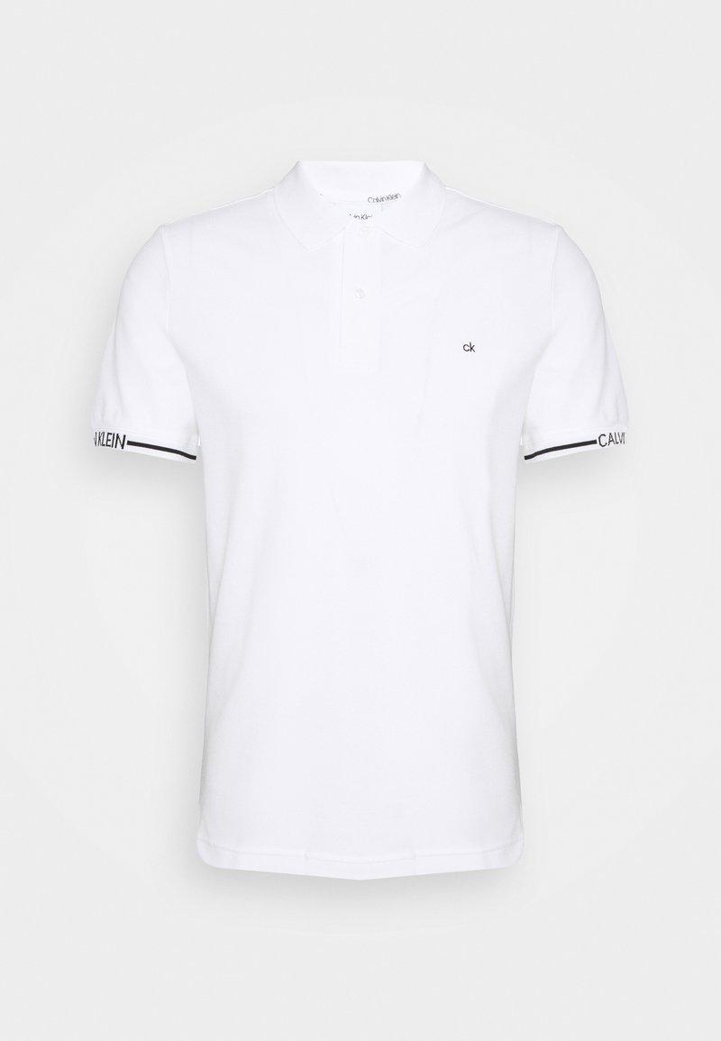 Calvin Klein - LOGO CUFF SLIM FIT  - Polo shirt - white