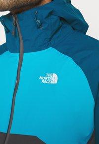 The North Face - MENS STRATOS JACKET - Hardshellová bunda - anthracite/teal/blue - 3