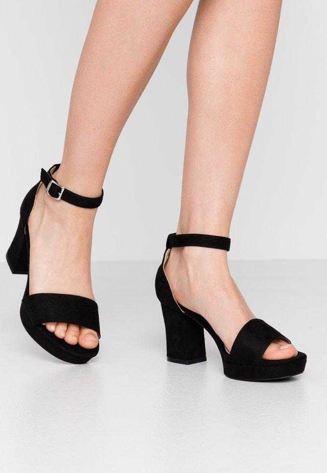 VOLGA - Korolliset sandaalit - black
