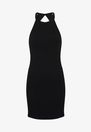 BODYCON DRESS - Sukienka z dżerseju - black