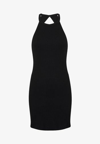 BODYCON DRESS - Žerzejové šaty - black