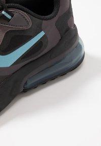 Nike Sportswear - AIR MAX 270 REACT - Sneakers basse - black/cerulean/thunder grey/barely volt - 2