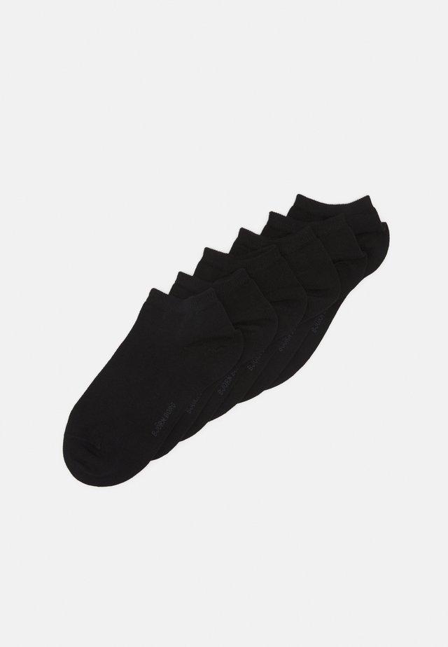 SOCK STEP SOLID 6 PACK - Strumpor - black