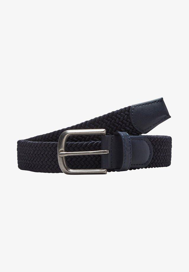 Braided belt - dark blue