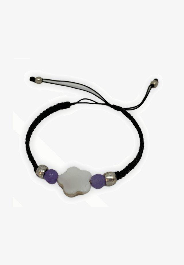 Pulsera - white, black, purple