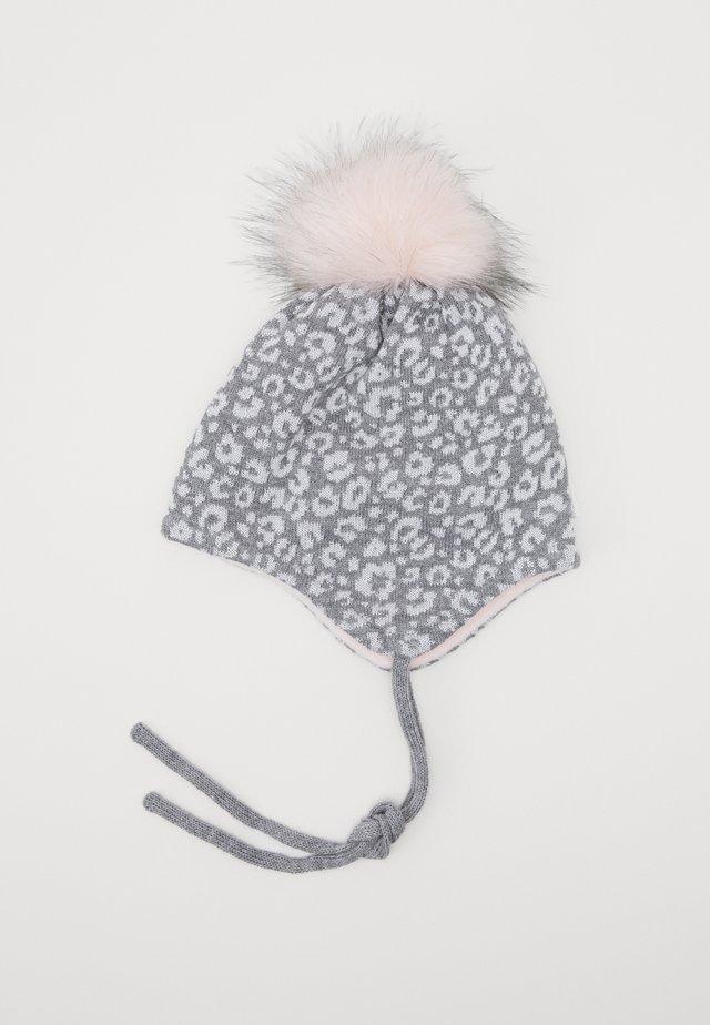 LEO GLITZY - Bonnet - mittelgraumeliert/weiß