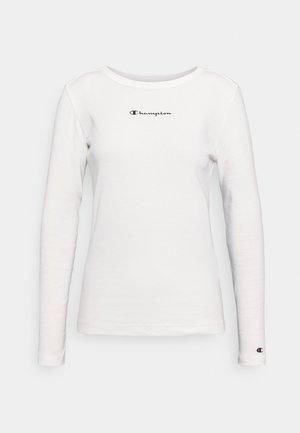 CREWNECK - Long sleeved top - white
