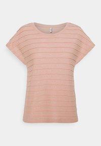 ONLY - ONLMILLIE LIFE GLITTER - Print T-shirt - misty rose/silver - 0