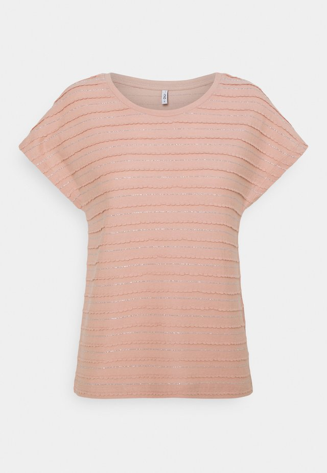 ONLMILLIE LIFE GLITTER - T-shirt print - misty rose/silver