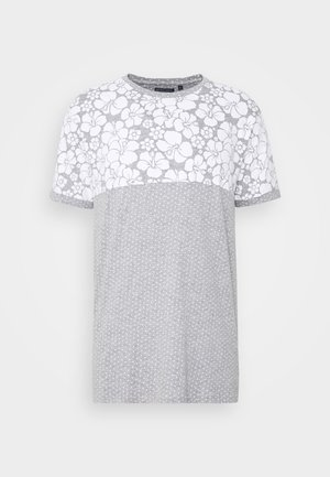 PEARL - T-Shirt print - grey marl/white