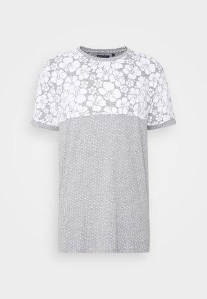 PEARL - Print T-shirt - grey marl/white