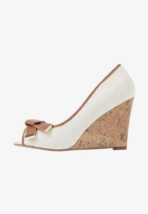CASSIDY - Peeptoe heels - beige