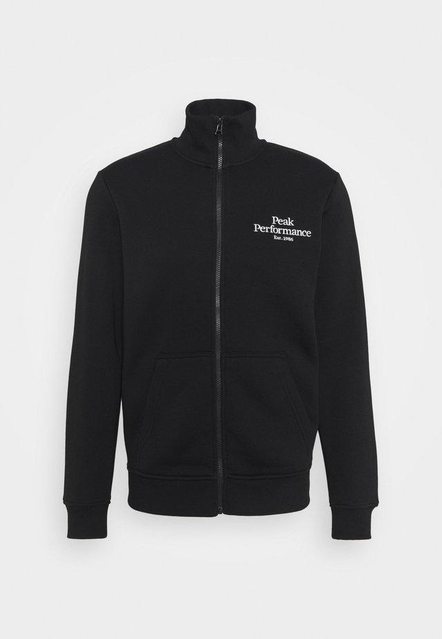 ORIGINAL ZIP JACKET - Mikina na zip - black