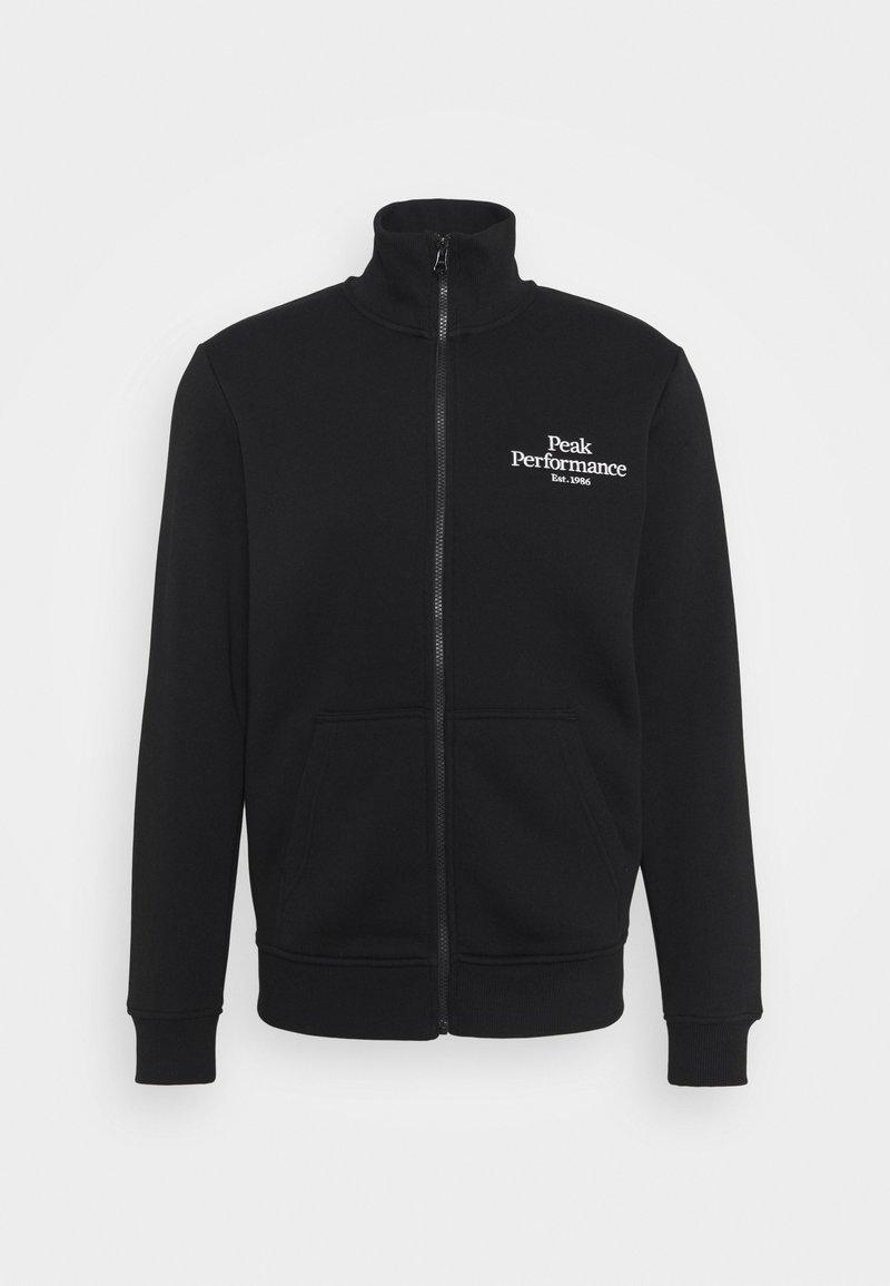 Peak Performance - ORIGINAL ZIP JACKET - Zip-up hoodie - black