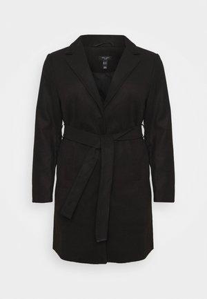 JORDAN BELTED COAT - Classic coat - black