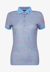 TOUR TECH PRINT - Sports shirt - lake blue