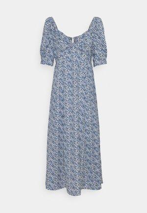 ONLSHAKIRA  MIDI DRESS - Denní šaty - cloud dancer/blue ditsy