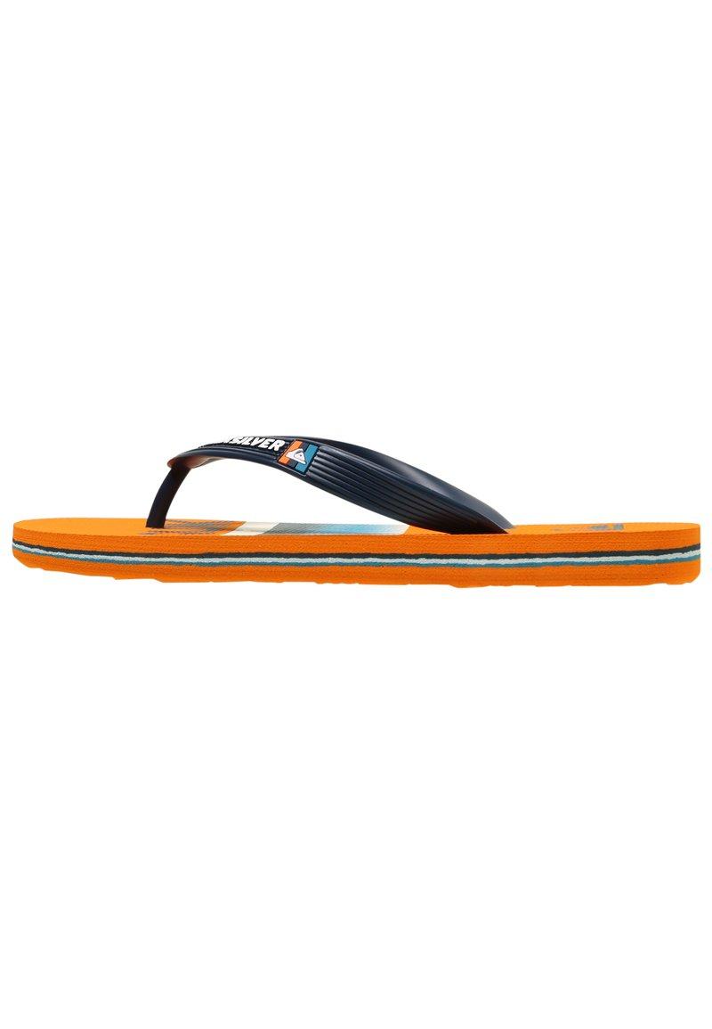 Quiksilver - MOLOKAI SLAB  - Pool shoes - blue/blue/orange