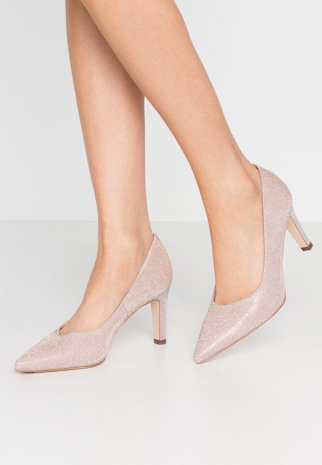 WIDE FIT TRIXI - Tacones - powder shimmer