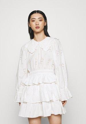 HALLIE MINI DRESS - Day dress - white