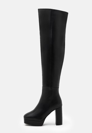 WIDE FIT CAROLINA - Høye støvler - black