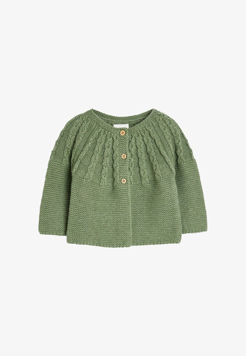 Next - CABLE DETAILED  - Cardigan - green