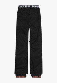 SuperRebel - SKI SNOWBOARD PANT PLAIN - Talvihousut - black - 1