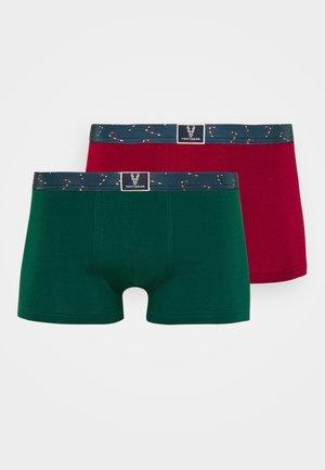 X-MAS 2ER PACK - Pants - red/dark green