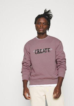 DUSTY SPRAY CREATE BACK PRINT - Sweatshirt - lilac