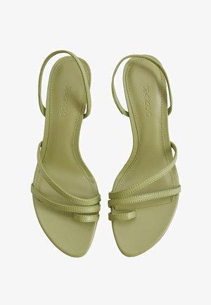 Ankle cuff sandals - waldgrün