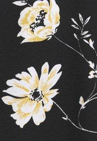 ONLY Carmakoma - BANDANA - Jersey dress - black/yellow - 5