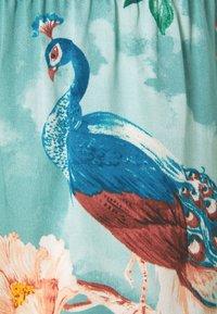 Hunkemöller - SHORT PAINTED PEACOCK - Bas de pyjama - mineral blue - 5