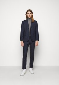 J.LINDEBERG - GRANT CHECKED PANTS - Suit trousers - mid blue - 1