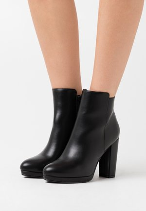 MELINDA - High heeled ankle boots - black