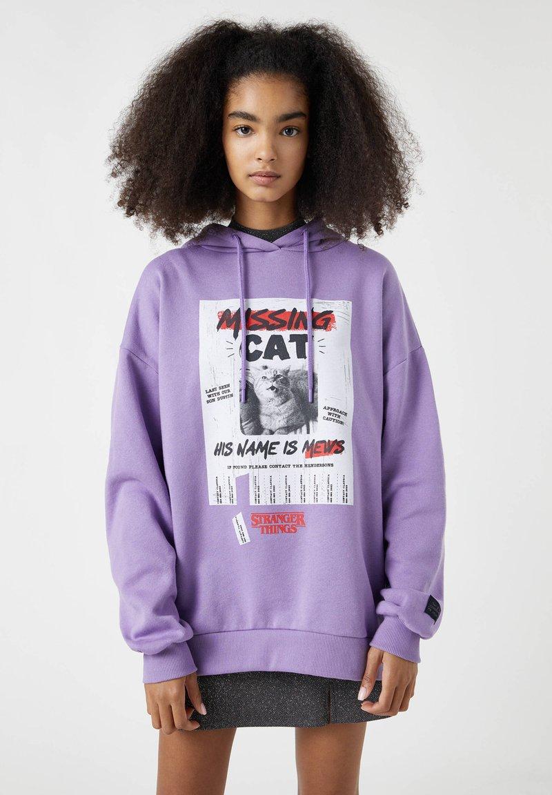 PULL&BEAR - Hoodie - purple
