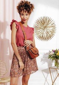 Cache Cache - A-line skirt - brown - 3