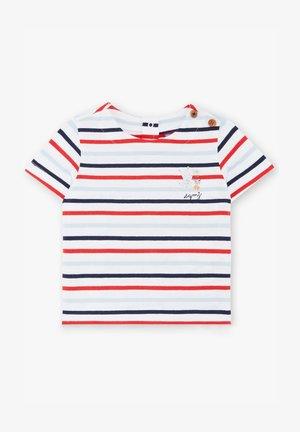 Print T-shirt - blue/red