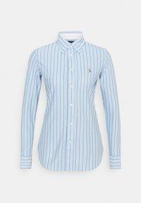 Polo Ralph Lauren - HEIDI LONG SLEEVE BUTTON FRONT SHIRT - Overhemdblouse - carolina blue/white - 0