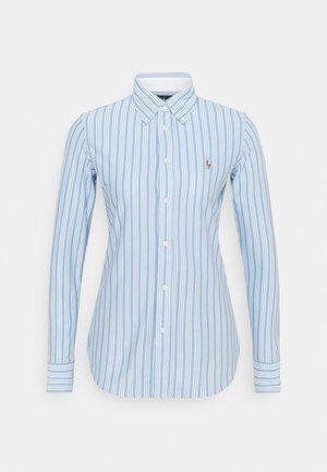 HEIDI LONG SLEEVE BUTTON FRONT SHIRT - Button-down blouse - carolina blue/white