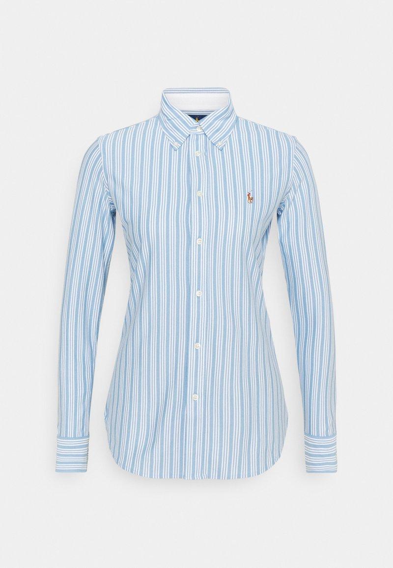 Polo Ralph Lauren - HEIDI LONG SLEEVE BUTTON FRONT SHIRT - Overhemdblouse - carolina blue/white