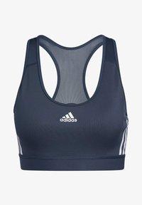 adidas Performance - BELIEVE THIS 3-STRIPES RIB BRA - Reggiseno sportivo - blue - 6